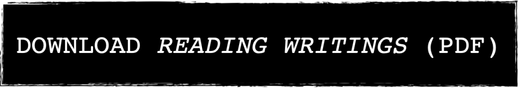 Download Reading Writings as a PDF